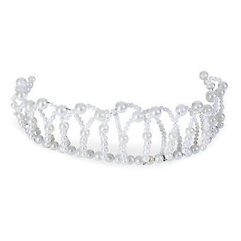 Accesorio flexible de la tiara de perlas princesa