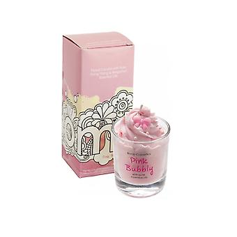 Bomb Cosmetics Bomb Cosmetics Piped Glass Candle - Pink Bubbly
