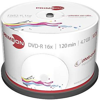Blank DVD-R 4.7 GB Primeon 2761206 50 pc(s) Spindle Printable