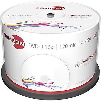 Disco DVD-R 4,7 GB Primeon 2761206 50/PC mandrino stampabile