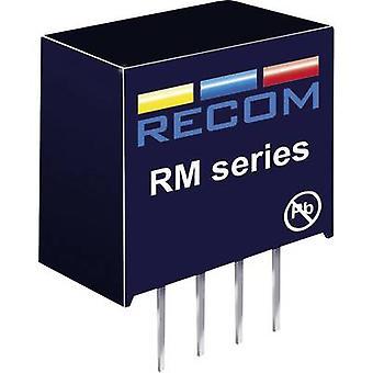RECOM RM-053.3S DC/DC converter (print) 5 Vdc 3.3 Vdc 76 mA 0.25 W No. of outputs: 1 x