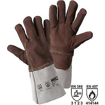 Divide guante de cuero resistente al calor (guantes) de tamaño: Unisize EN 388, EN 407