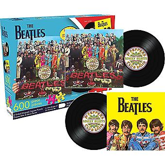Beatles Sgt. Pepper 600 Piece Shaped Double Sided Jigsaw Puzzle