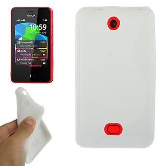 Handyhülle Schutz TPU für Handy Nokia Asha 501 weiß
