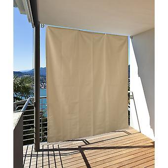 Vertikaler Sonnenschutz Windschutz Sichtschutz Balkon Terrasse creme L: 230 x B: 140 cm