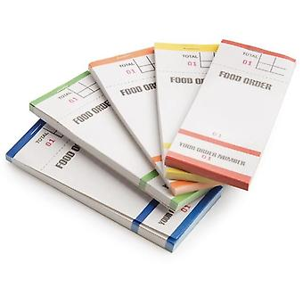 Restaurant Pads / Waiter Order Pads - Single Ply - Multicoloured Pads - 100 Sheets per Pad - 100 Pads per Box