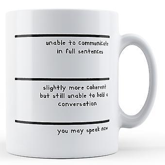 Måle du kan snakke nå - trykte krus