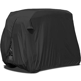 Waterproof Superior Black Golf Cart Cover Covers Club Car, EZGO, Yamaha, Fits Most Two-Person Golf Carts