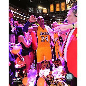 Kobe Bryant spelar sin sista NBA spel-Staples Center-April 13 2016 Photo Print (8 x 10)