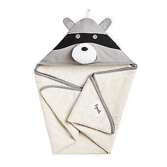 Delta Raccoon hooded bathrobe-100% foam