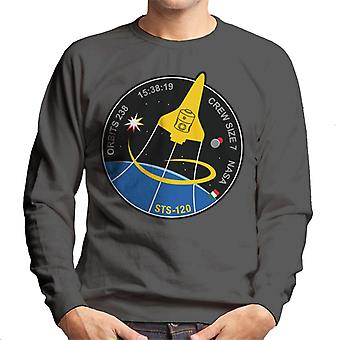 NASA STS 120 Shuttle Mission Imagery Patch Men's Sweatshirt