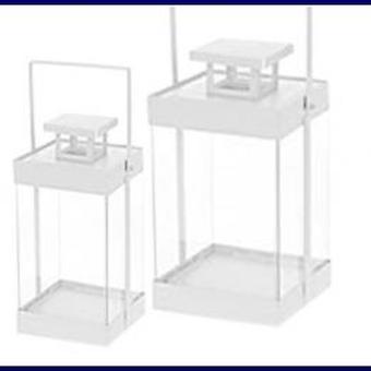 Lantaarn metaal set van 2 stuks