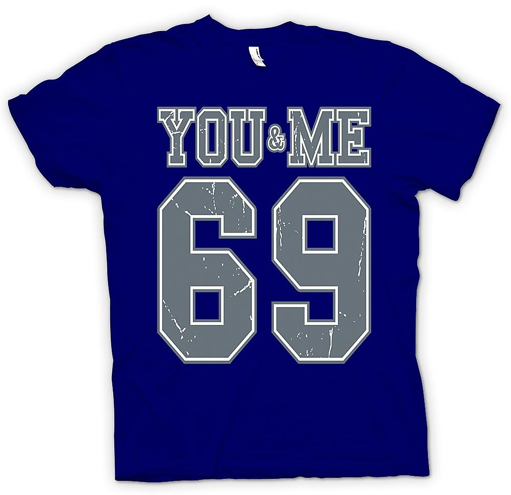 T-shirt des hommes - You And Me 69 - College Football - Drôle
