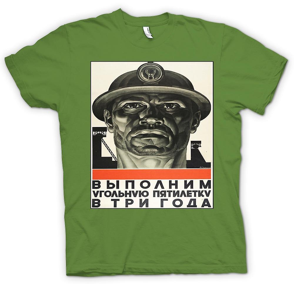 Heren T-shirt - Miner Russische Propaganda - Poster