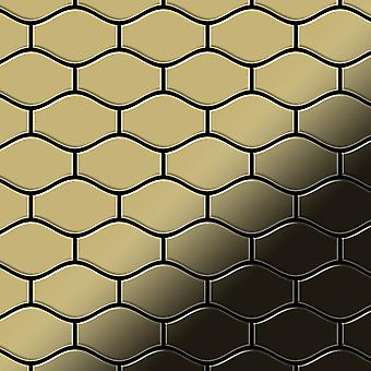 Metal mosaic Brass ALLOY Karma-BM