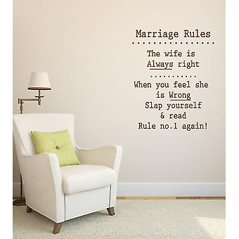 Marriage Rules Novelty Wall Sticker