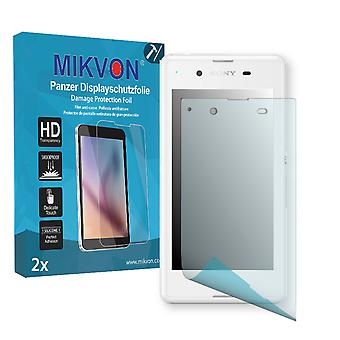 Sony Xperia E3 Dual Screen Protector - Mikvon Armor Screen Protector (Retail Package with accessories)