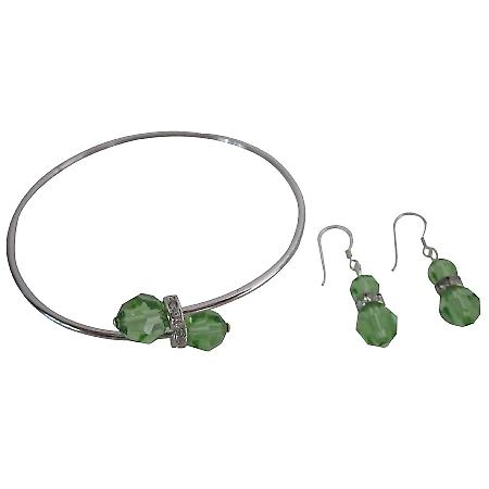 Quality Jewelry Guaranteed Low Price Peridot Crystals Bracelet