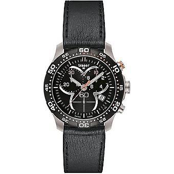 Traser H3 Ladytime black chronograph mens watch T7392. QAH. G1A. 01 100333