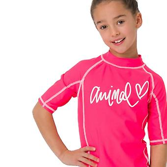 Animal Girls Molli Short Sleeve Rash Top | Psycho Red