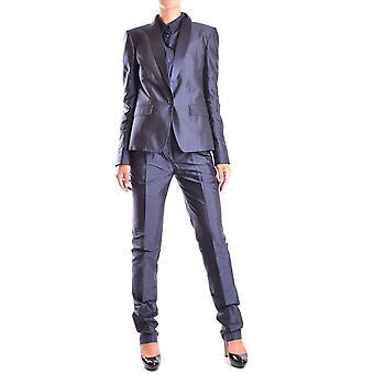 Dolce E Gabbana Blue Silk Dress