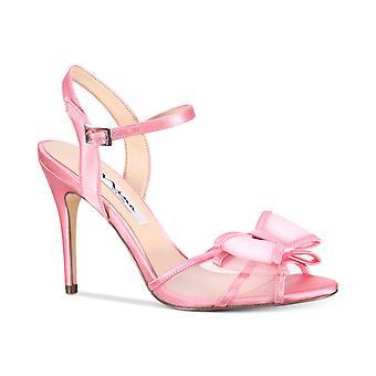 Nina Womens Charm Fabric Peep Toe Special Occasion Slingback Sandals