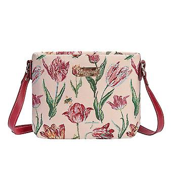 Marrel's tulip white cross body bag by signare tapestry / xb02-jmtwt