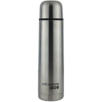Yellowstone 1L Stainless Steel Flask Silver