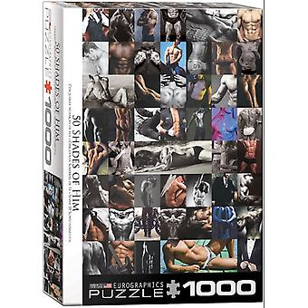 Fifty Shades of Him 1000 Piece Jigsaw Puzzle 680mm x 490mm (pz)