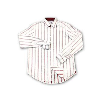 Robert Graham Taylor shirt in white/red dotted stripe