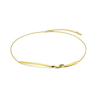 Ania Haie Gold Plated Sterling Silver 'Twist' 14'' Necklace