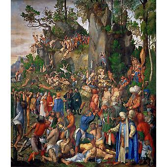 Le martyre des dix mille, Albrecht Durer, 50x44cm