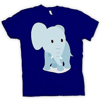 Herr T-shirt - jag älskar elefanter - söt elefant