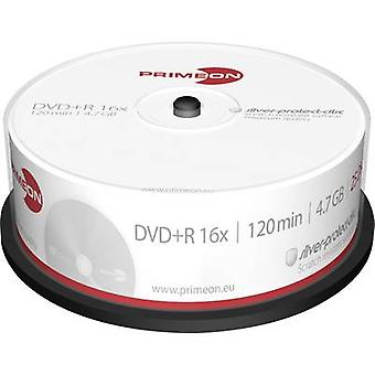Primeon 2761223 Blank DVD+R 4.7 GB 25 pc(s) Spindle Silver matte surface