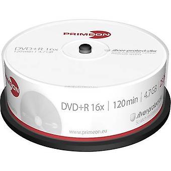 Primeon 2761223 lege DVD + R 4,7 GB 25 PC (s) spindel zilver mat oppervlak