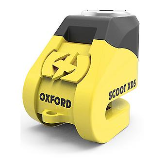 Oxford Yellow-Black Scoot XD5 Disc Motorcycle Lock