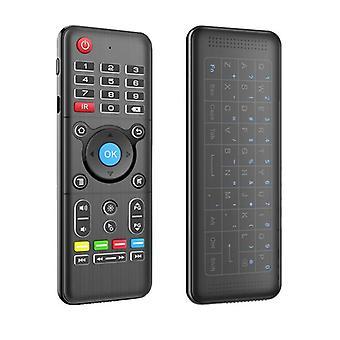 H1 2.4g luz de fondo inalámbrico touchpad teclado de aire ratón ir aprendizaje para ventana / android os