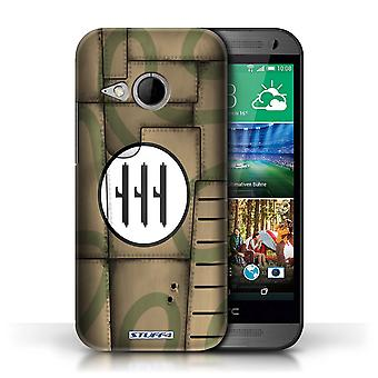 STUFF4 Case/Cover voor HTC One/1 Mini 2/Italië/Brown/vliegtuig Fighter Wing