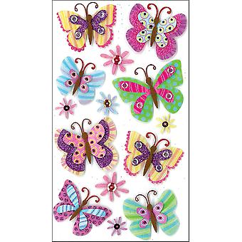 Jolee's Boutique Le Grande Dimensional Stickers Paisley Butterfly Repeats E5050291