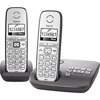 Cordless analogue Gigaset E310A Duo Answerphone, Hands-free Back