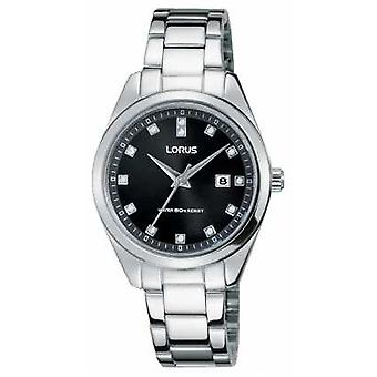 Lorus Womens Stainless Steel Bracelet Black Dial RJ243BX9 Watch