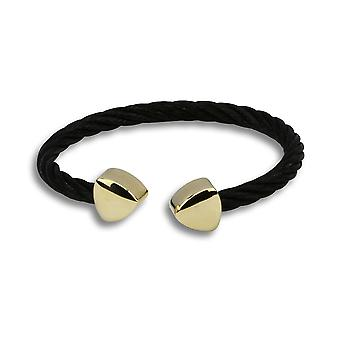Ophelia black cuff with gold accent