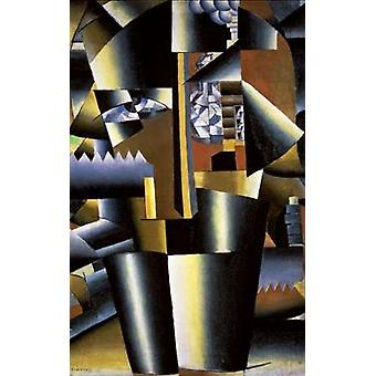 Portrait of The Artist I Klyun Poster Print by  Kazimir Malevich