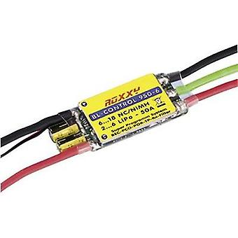 ROXXY Brushless control 950-6Operating voltage7.2 - 22.2 V continuous current 50 Aconnector system Futaba