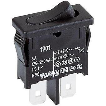 Toggle switch 250 Vac 6 A 1 x Off/On Marquardt 1901.1102 latch 1 pc(s)