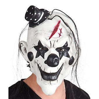Adults Halloween Psycho Clown Latex Head Face Mask Fancy Dress Accessory