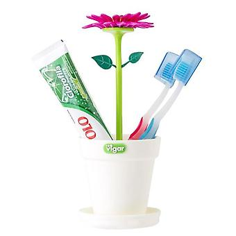 VIGAR Toothbrushes pot Flower Power (Bathroom accessories , Toothbrush holder)