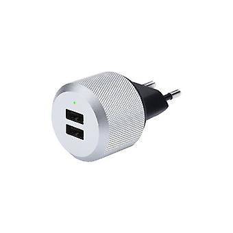 Just Mobile Aluplug-The Luxurious Wall Charger with 2 X USB 2 (4) (A)