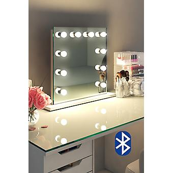 Diamond X Table Top Hollywood Audio Mirror with Dimmable LED k89LEDaud