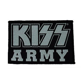 Kiss Kiss Army Woven Patch